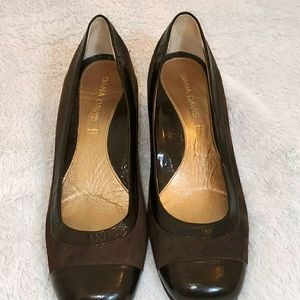 Ladies Brown Upper Suede and Leather Shoes